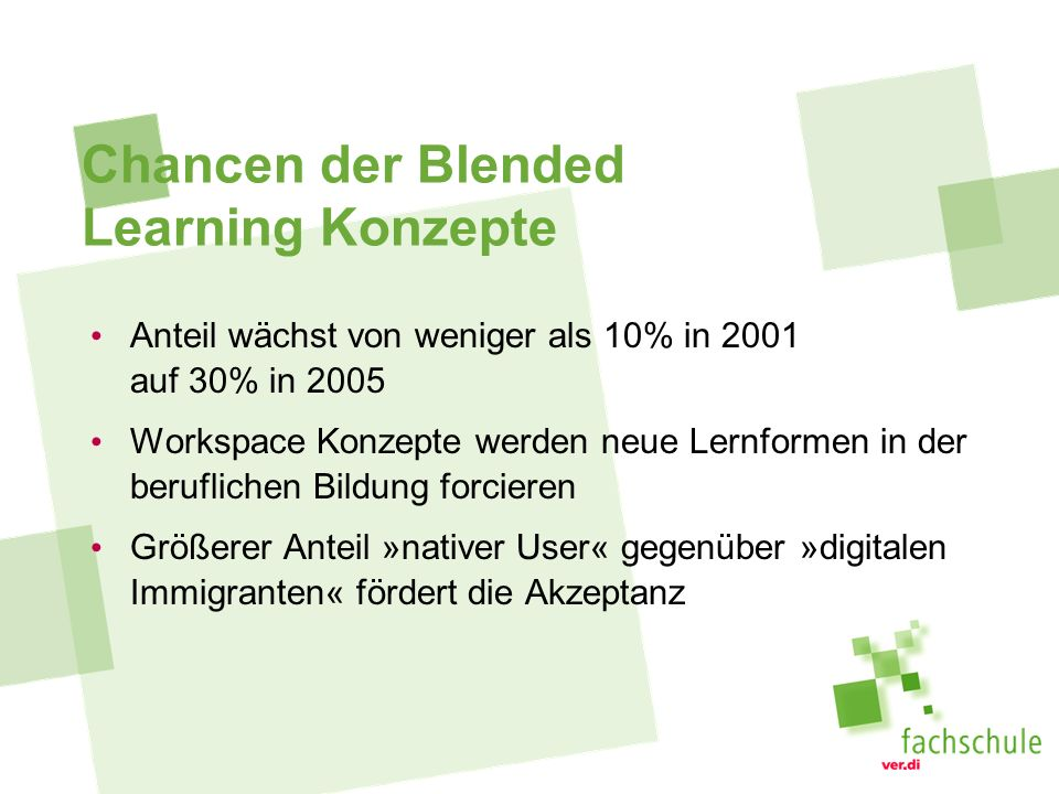 Chancen der Blended Learning Konzepte