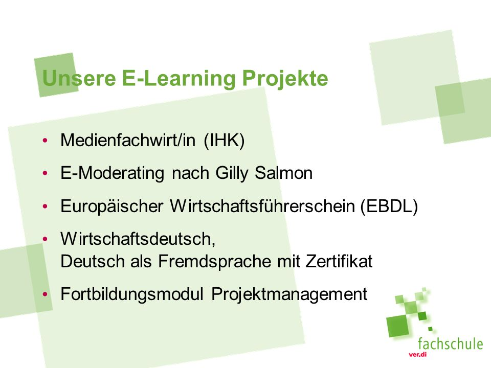 Unsere E-Learning Projekte