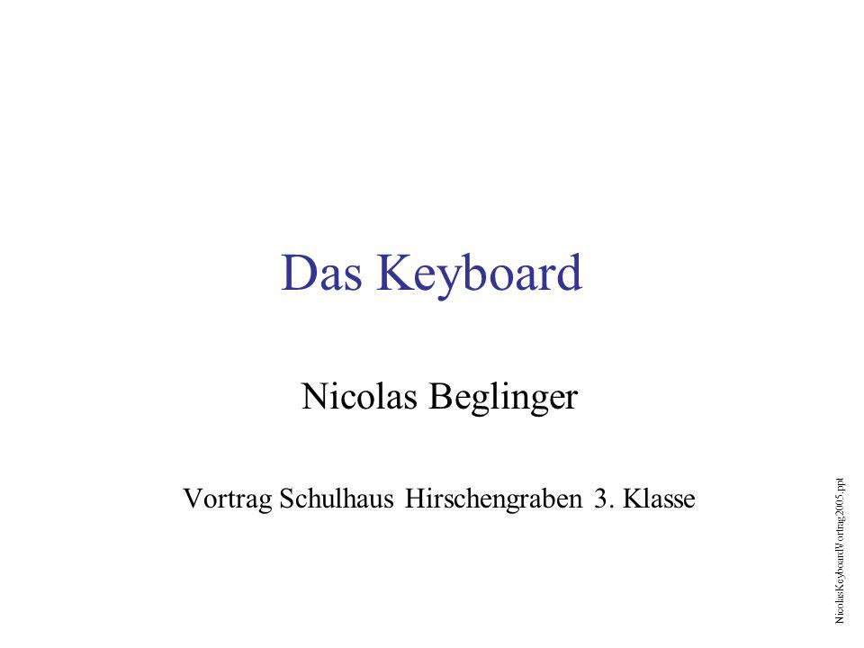 Nicolas Beglinger Vortrag Schulhaus Hirschengraben 3. Klasse