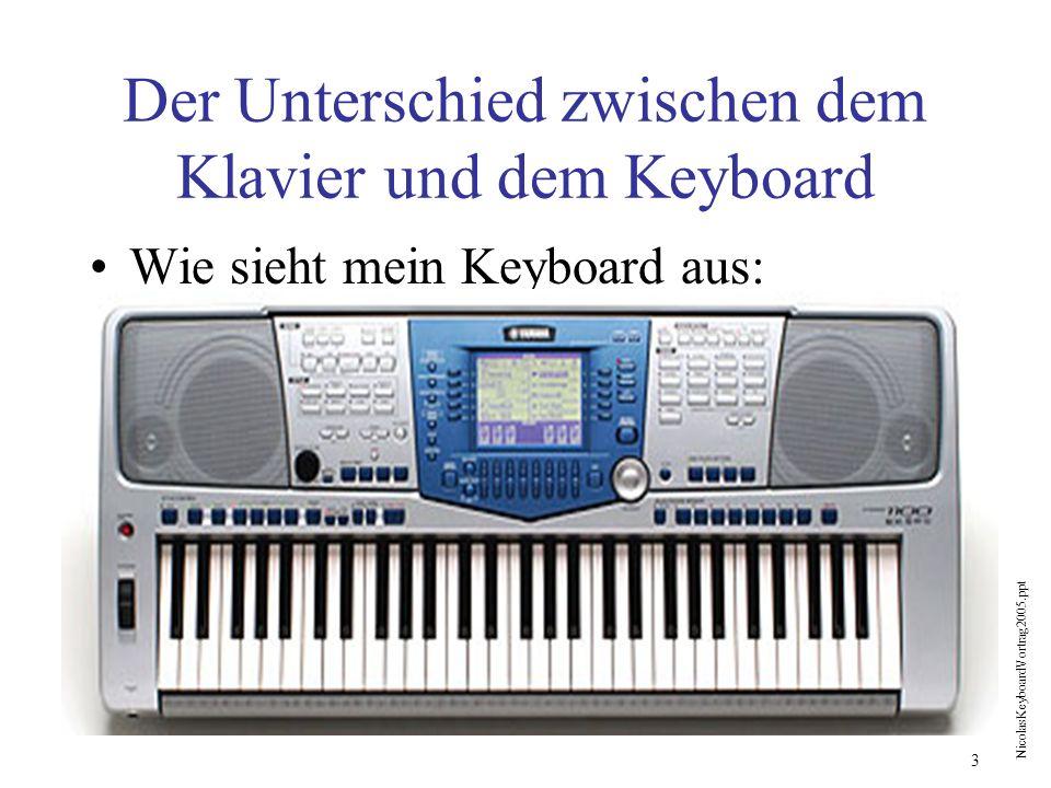 Der Unterschied zwischen dem Klavier und dem Keyboard