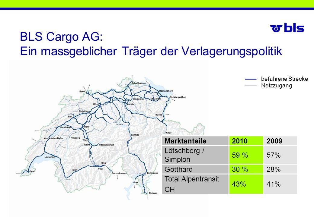 BLS Cargo AG: Ein massgeblicher Träger der Verlagerungspolitik