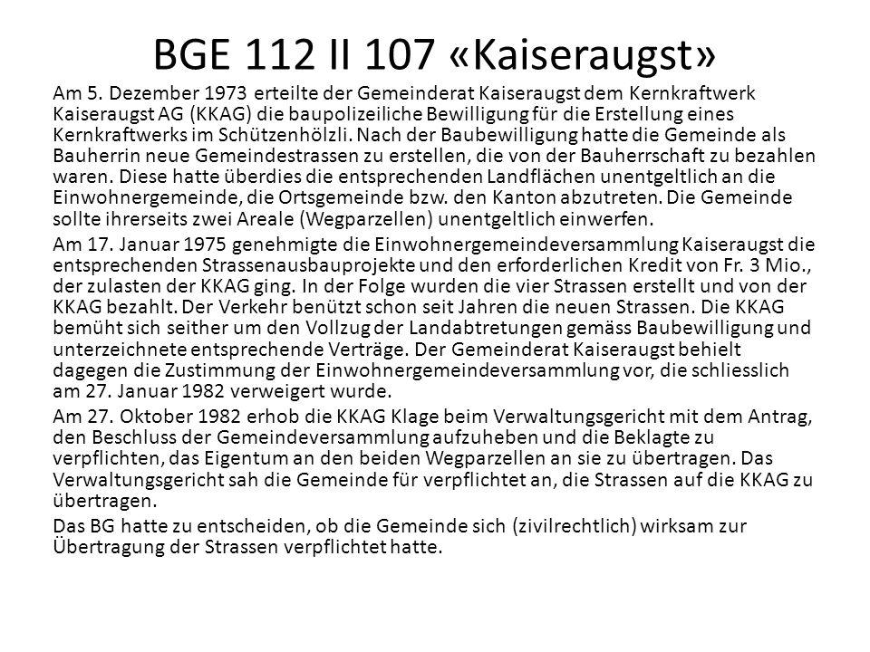 BGE 112 II 107 «Kaiseraugst»