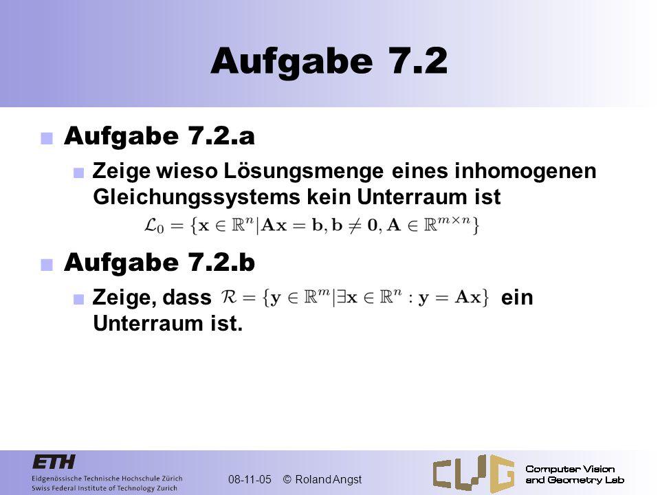 Aufgabe 7.2 Aufgabe 7.2.a Aufgabe 7.2.b