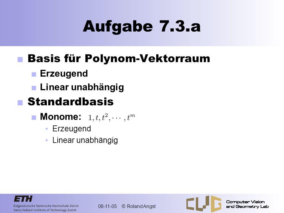 Aufgabe 7.3.a Basis für Polynom-Vektorraum Standardbasis Erzeugend