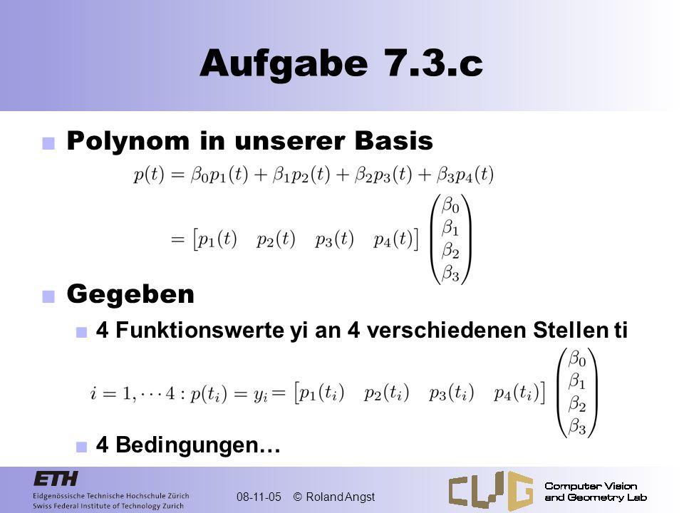 Aufgabe 7.3.c Polynom in unserer Basis Gegeben