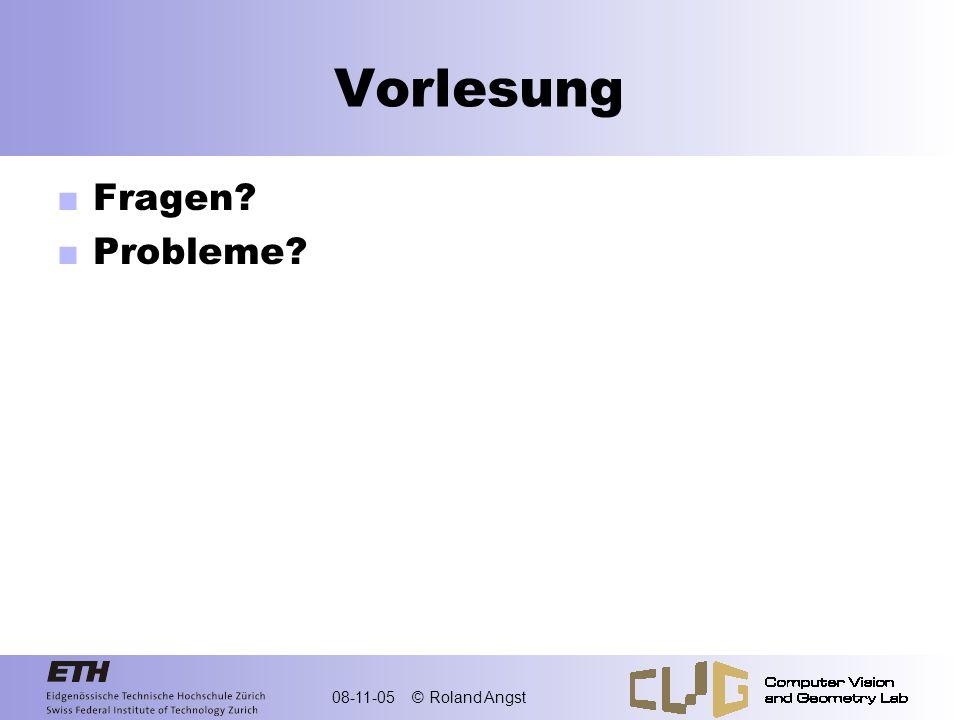 Vorlesung Fragen Probleme