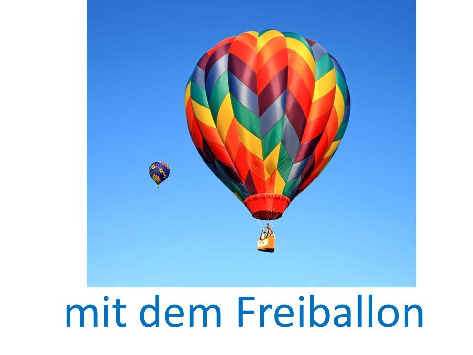mit dem Freiballon