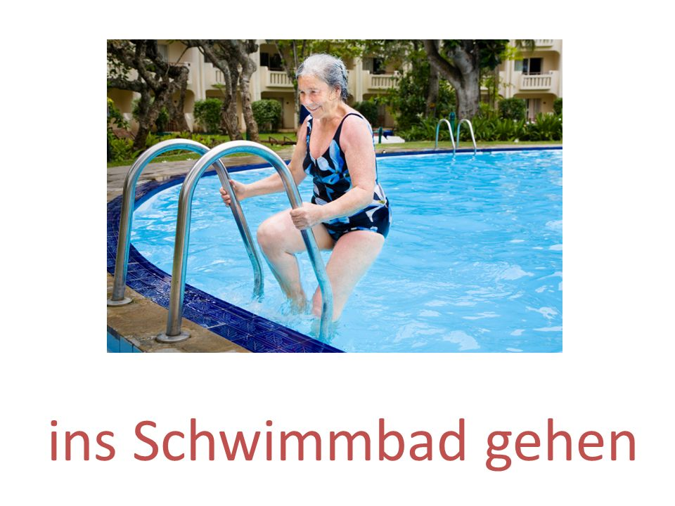 ins Schwimmbad gehen
