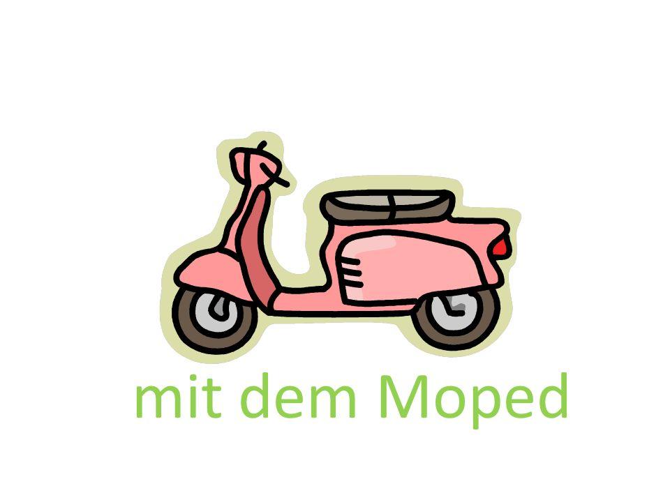 mit dem Moped