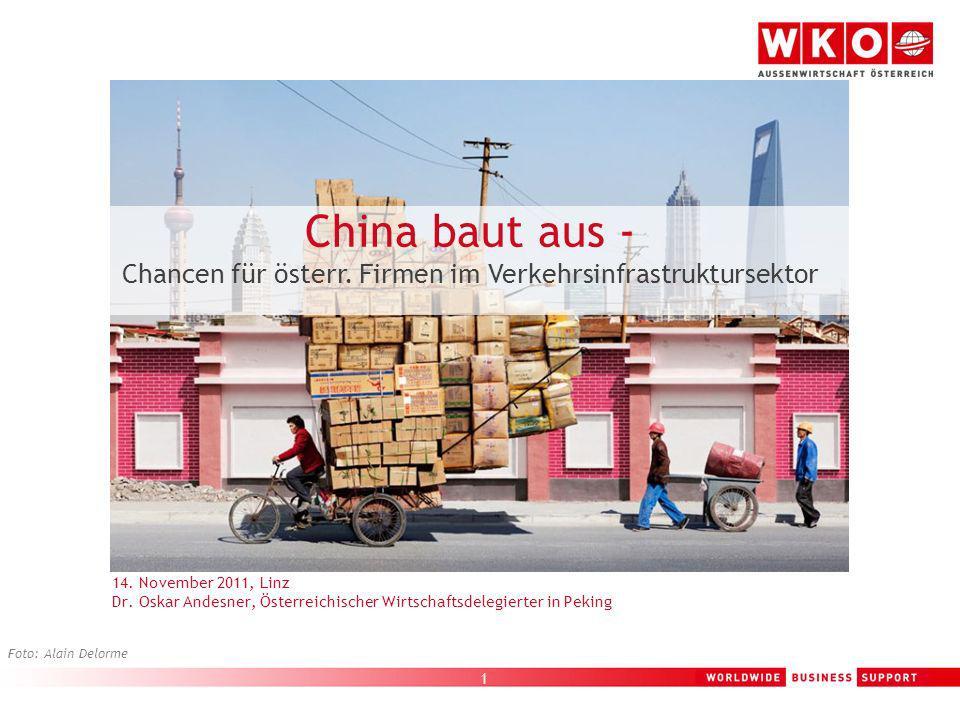 Chancen für österr. Firmen im Verkehrsinfrastruktursektor