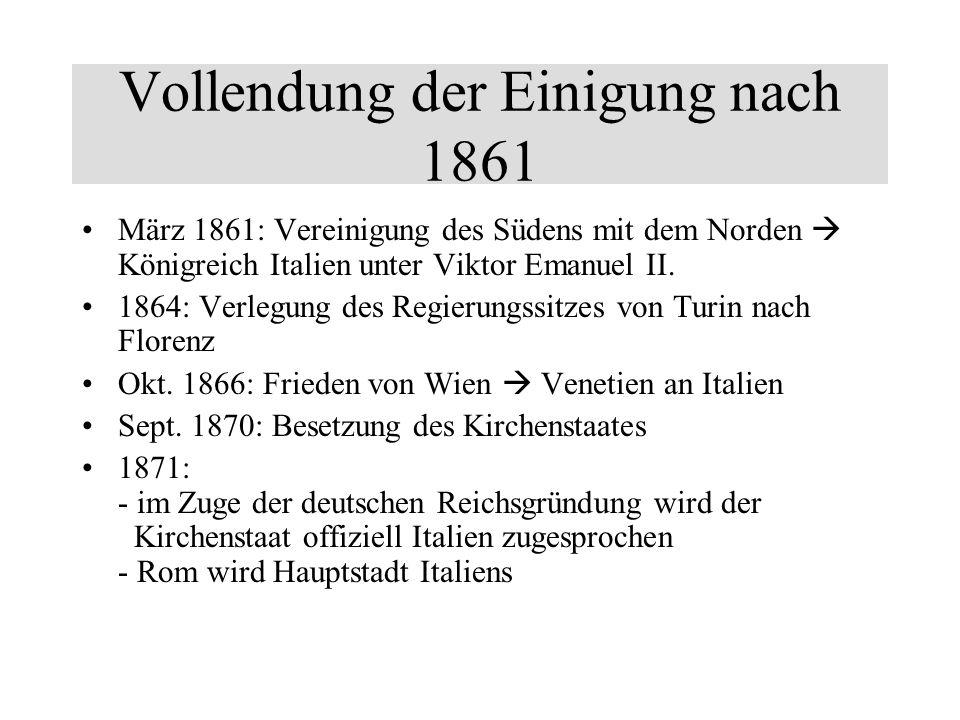 Vollendung der Einigung nach 1861