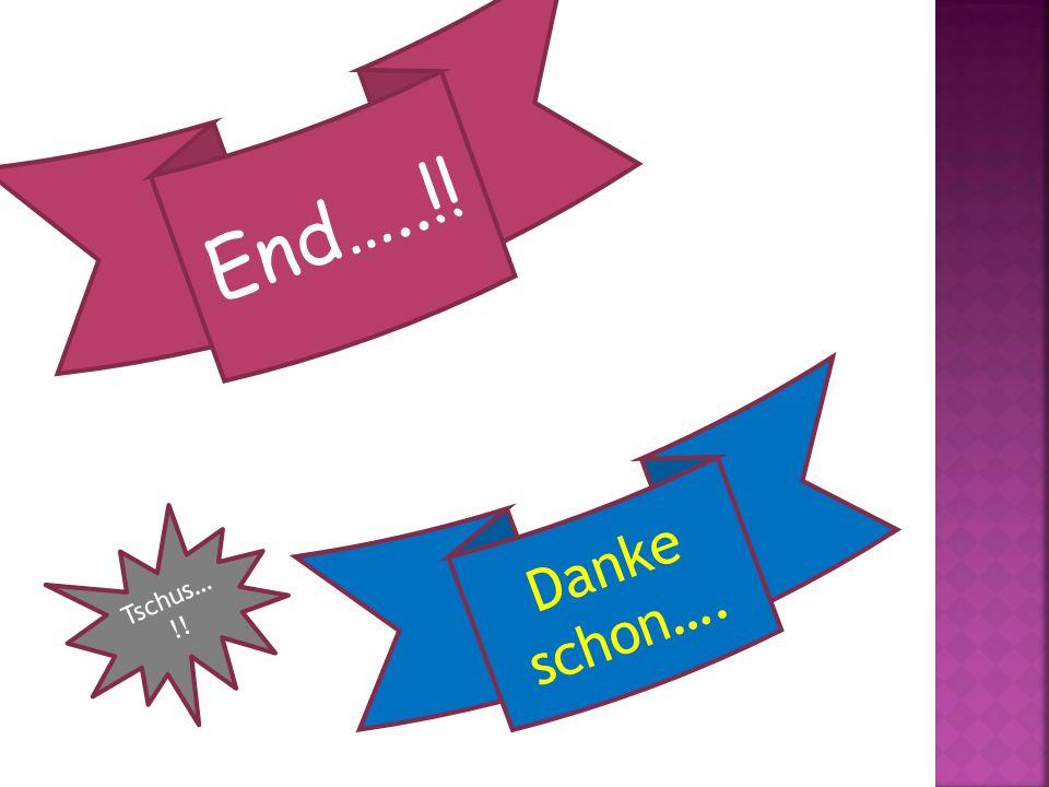 End…..!! Danke schon…. Tschus…!!