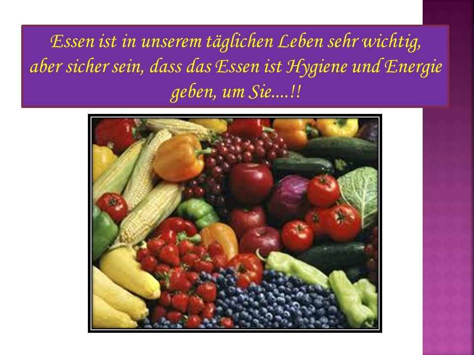 Essen ist in unserem täglichen Leben sehr wichtig,