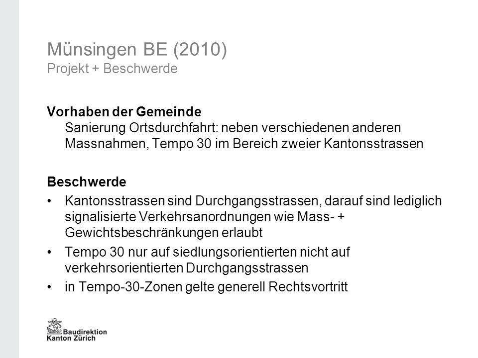 Münsingen BE (2010) Projekt + Beschwerde