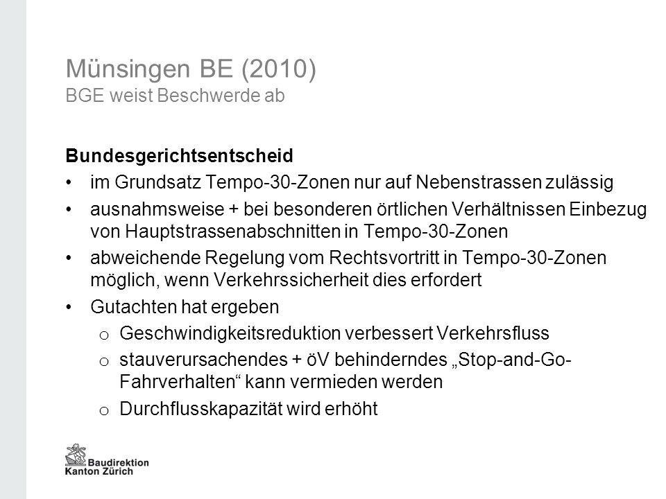Münsingen BE (2010) BGE weist Beschwerde ab