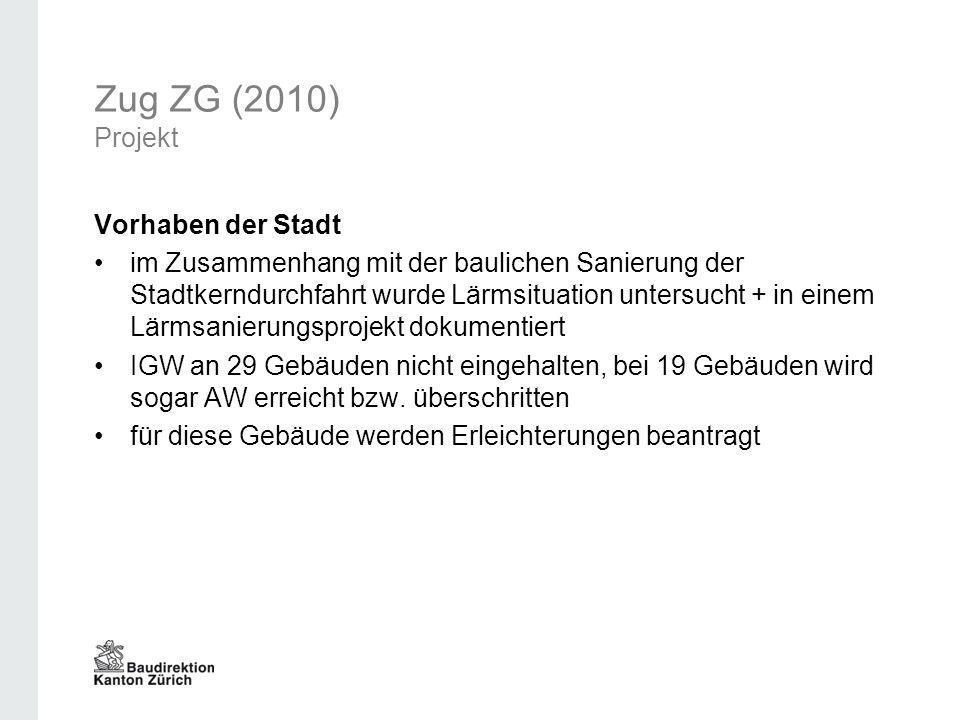 Zug ZG (2010) Projekt Vorhaben der Stadt