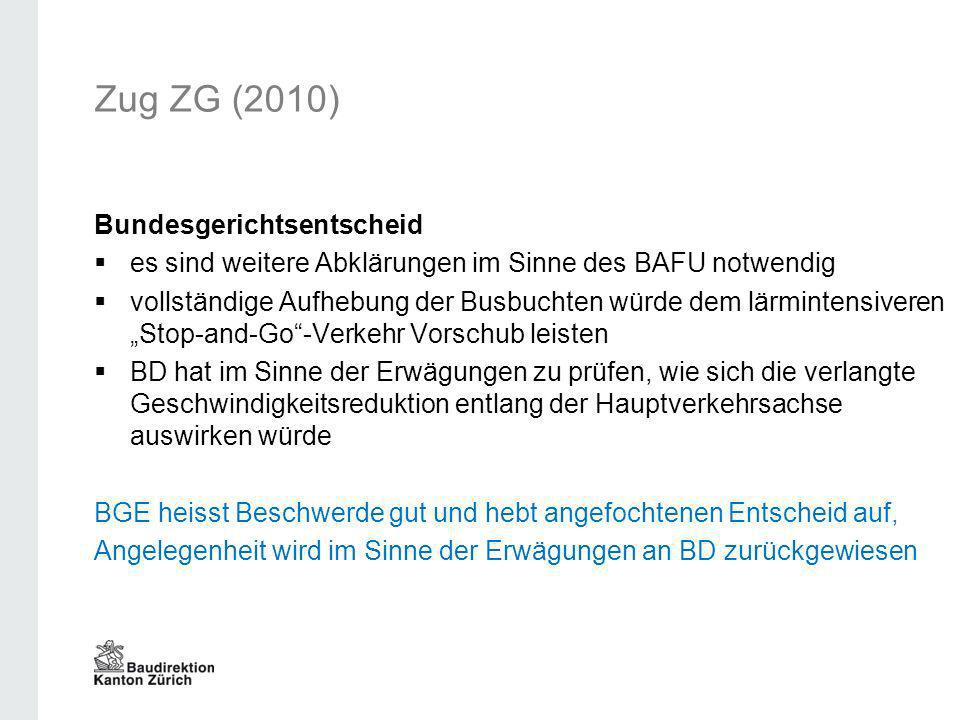 Zug ZG (2010) Bundesgerichtsentscheid