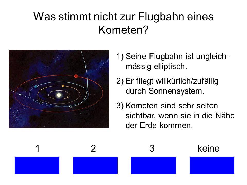 Was stimmt nicht zur Flugbahn eines Kometen