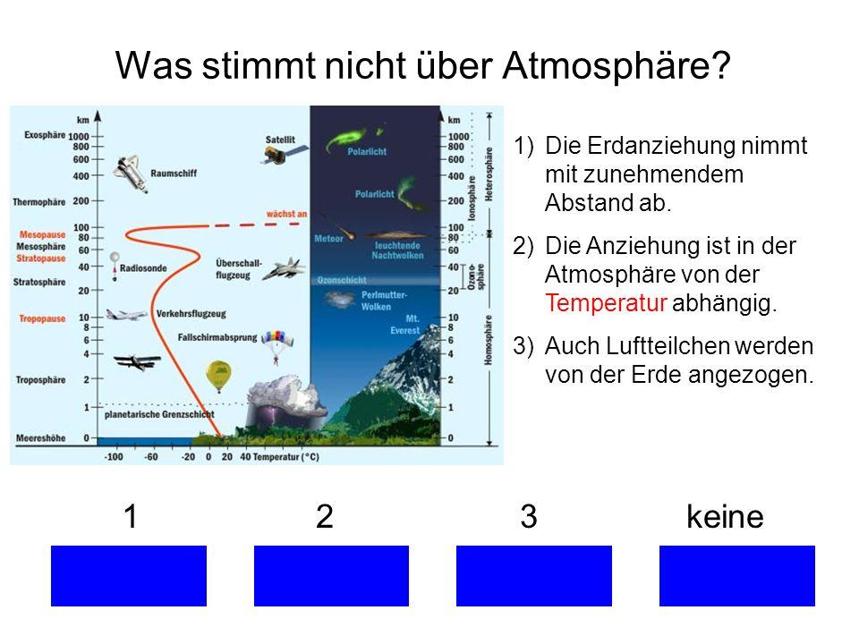 Was stimmt nicht über Atmosphäre