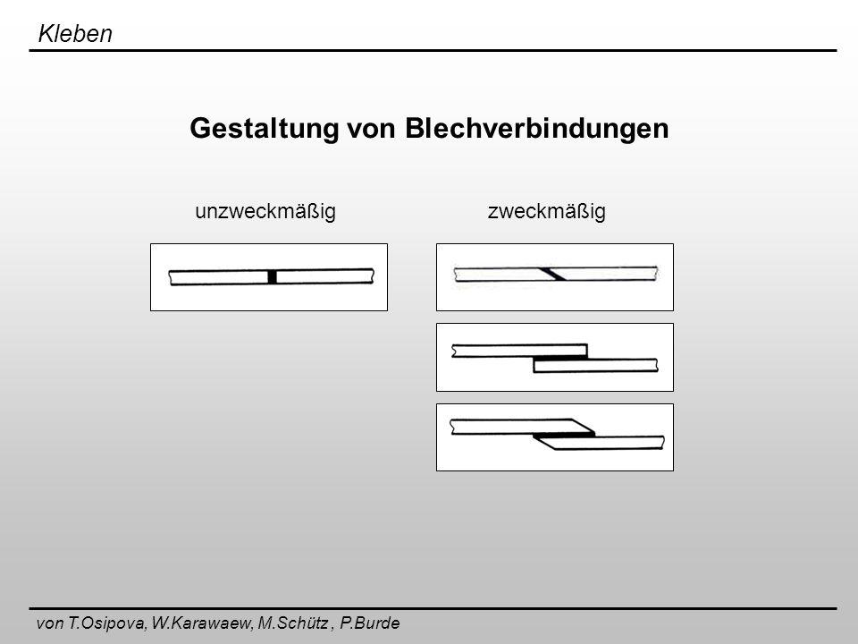 Gestaltung von Blechverbindungen
