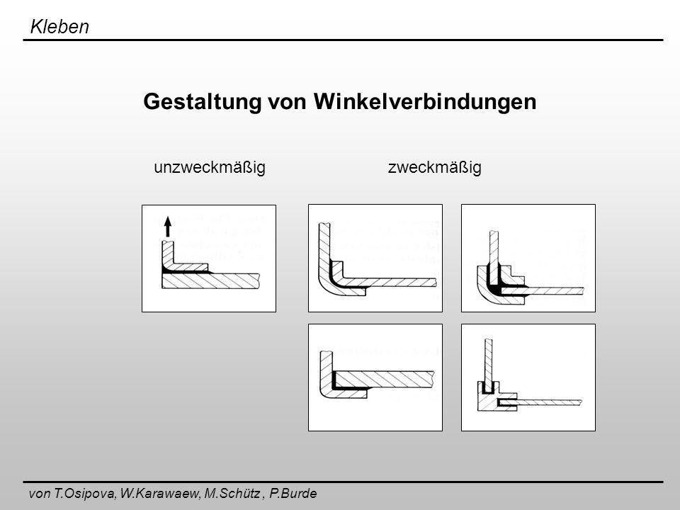 Gestaltung von Winkelverbindungen