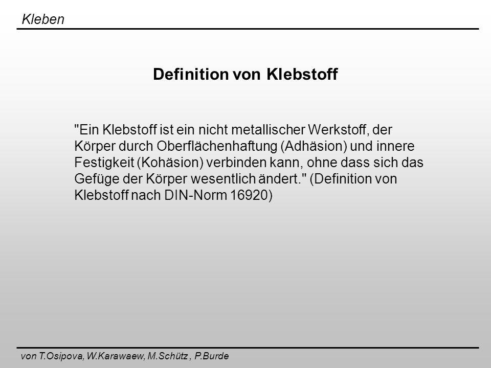 Definition von Klebstoff