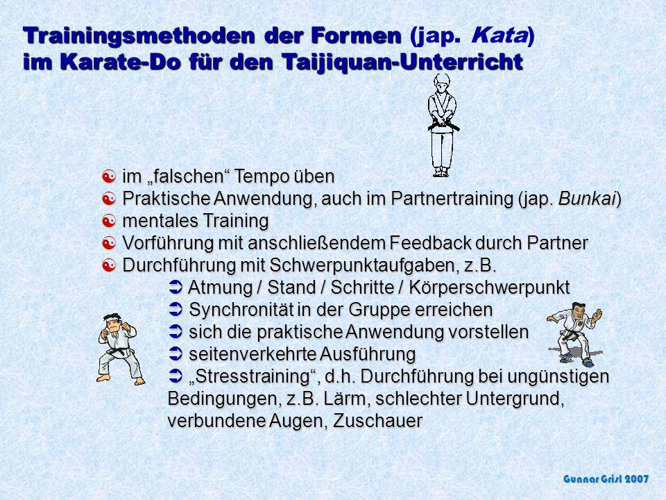 Trainingsmethoden der Formen (jap