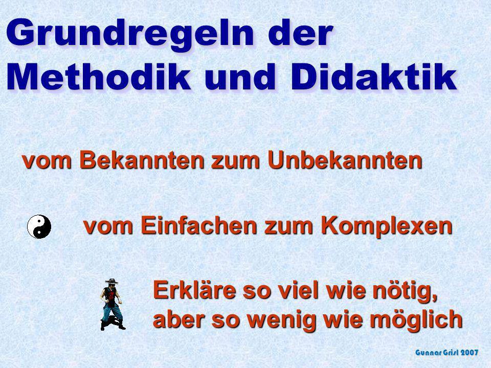 Grundregeln der Methodik und Didaktik