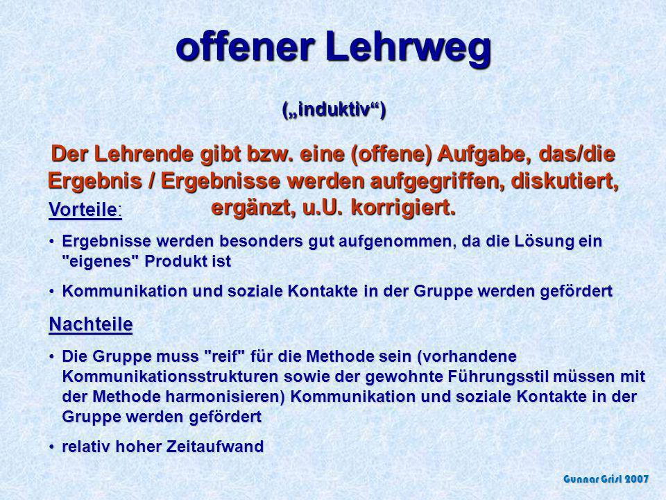 """offener Lehrweg (""""induktiv )"""