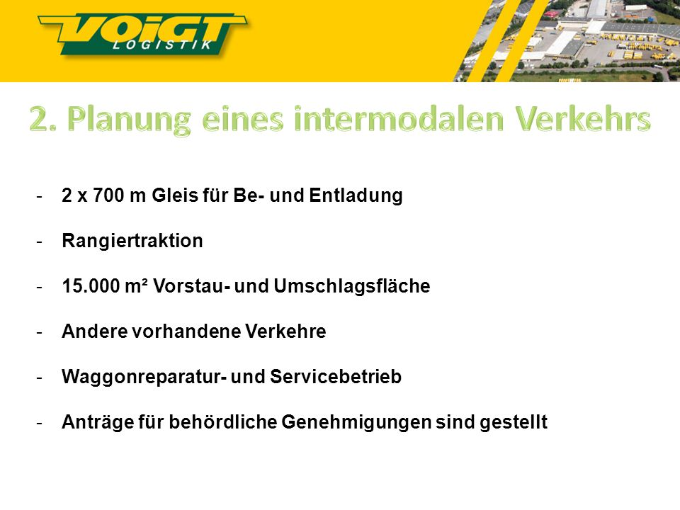 2. Planung eines intermodalen Verkehrs