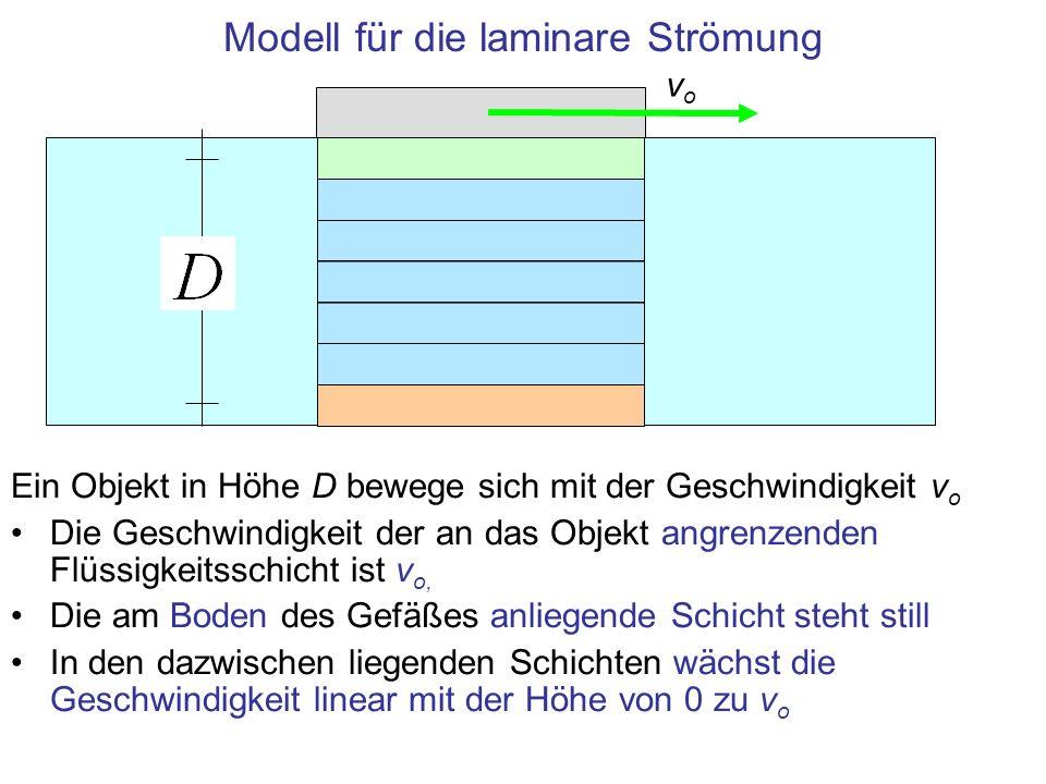 Modell für die laminare Strömung