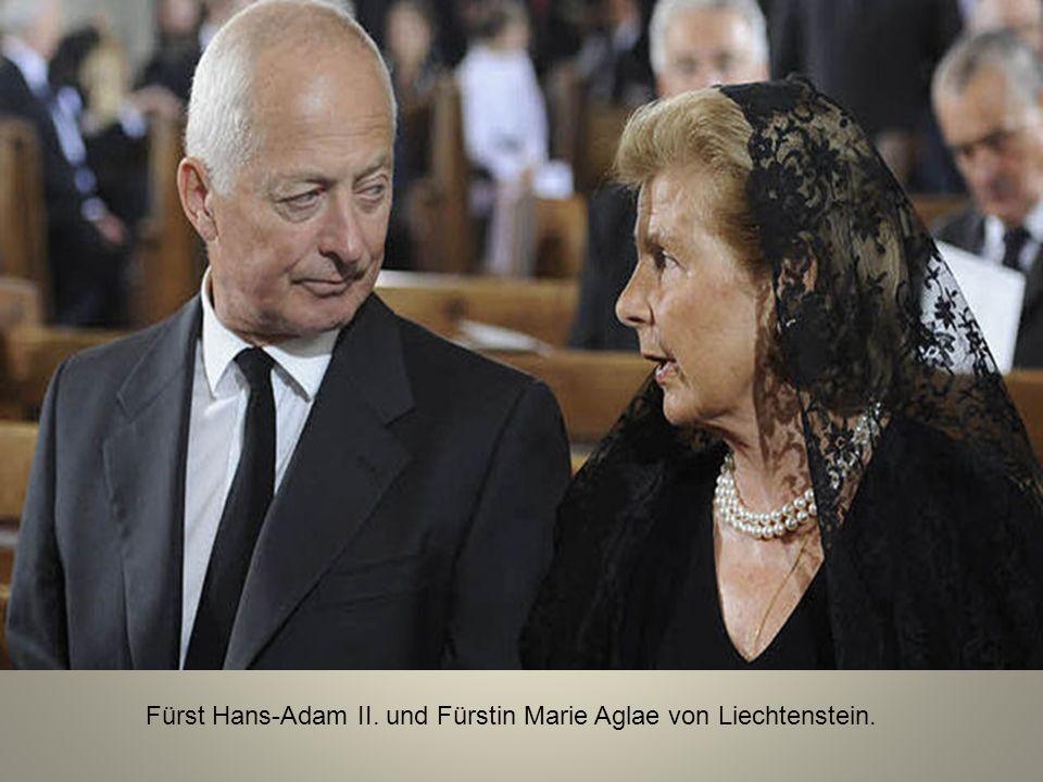 Fürst Hans-Adam II. und Fürstin Marie Aglae von Liechtenstein.