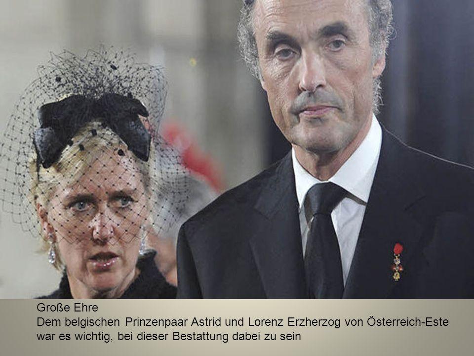 Große Ehre Dem belgischen Prinzenpaar Astrid und Lorenz Erzherzog von Österreich-Este war es wichtig, bei dieser Bestattung dabei zu sein.