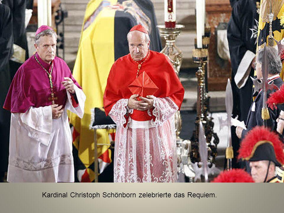 Kardinal Christoph Schönborn zelebrierte das Requiem.