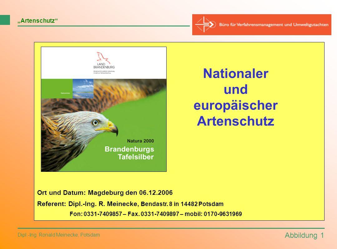 Nationaler und europäischer Artenschutz