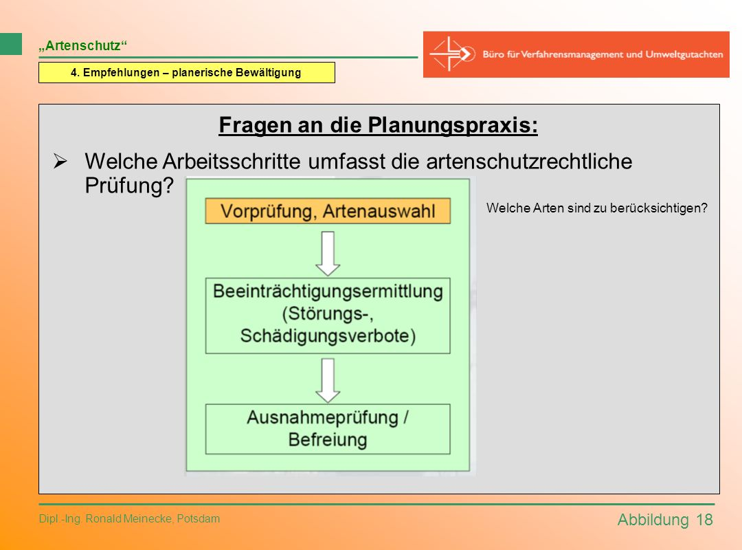 Fragen an die Planungspraxis: