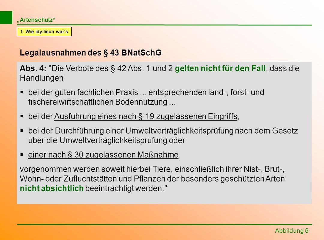 Legalausnahmen des § 43 BNatSchG