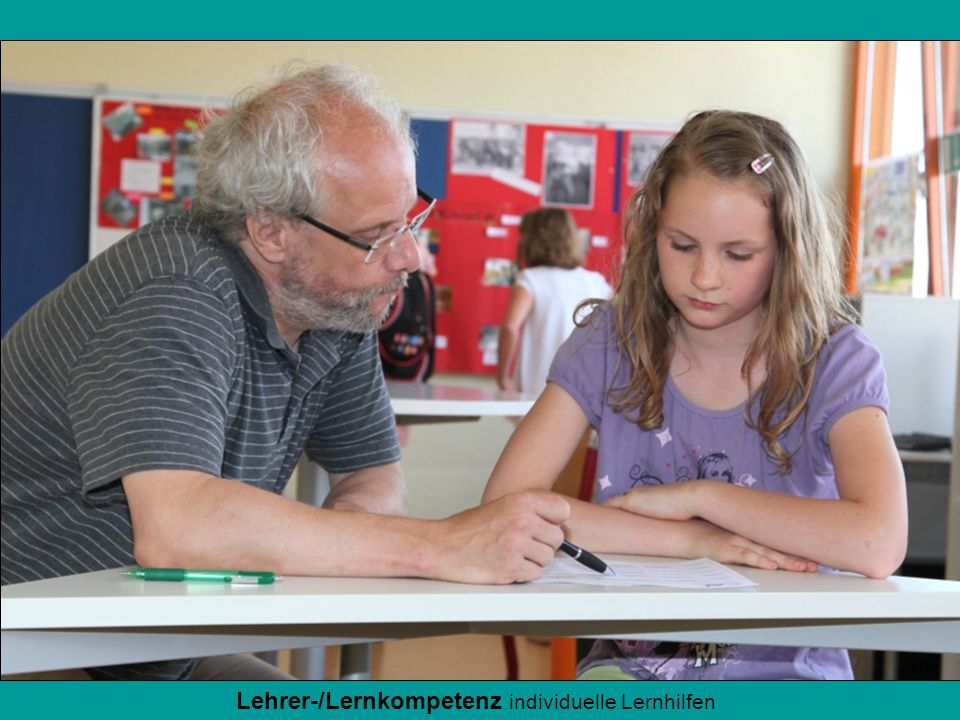 Lehrer-/Lernkompetenz individuelle Lernhilfen