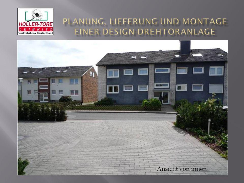 Planung, Lieferung und Montage einer Design-Drehtoranlage