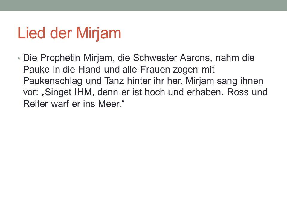 Lied der Mirjam