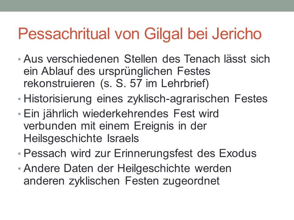Pessachritual von Gilgal bei Jericho