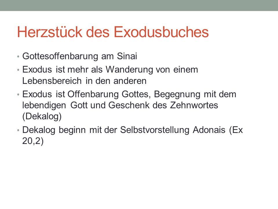 Herzstück des Exodusbuches