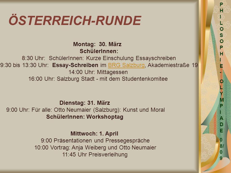 ÖSTERREICH-RUNDE Montag: 30. März