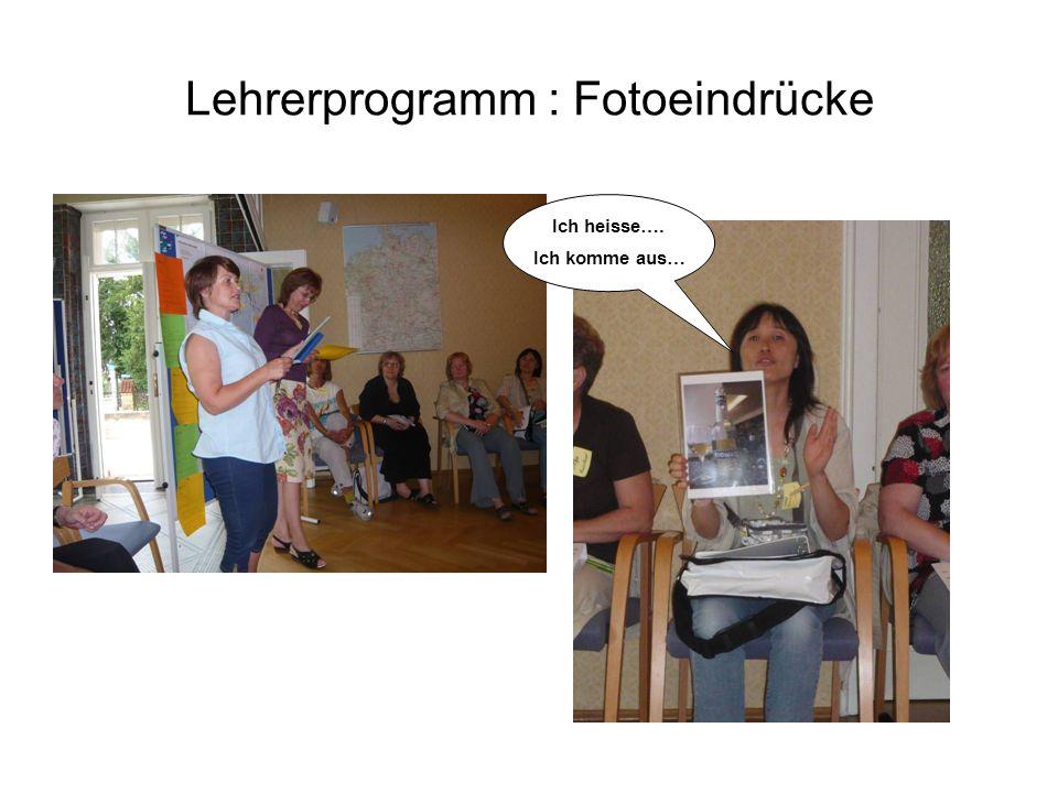 Lehrerprogramm : Fotoeindrücke