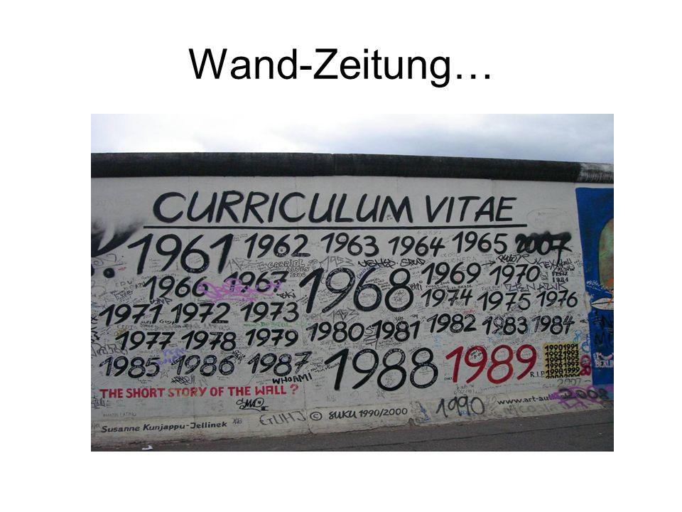 Wand-Zeitung…