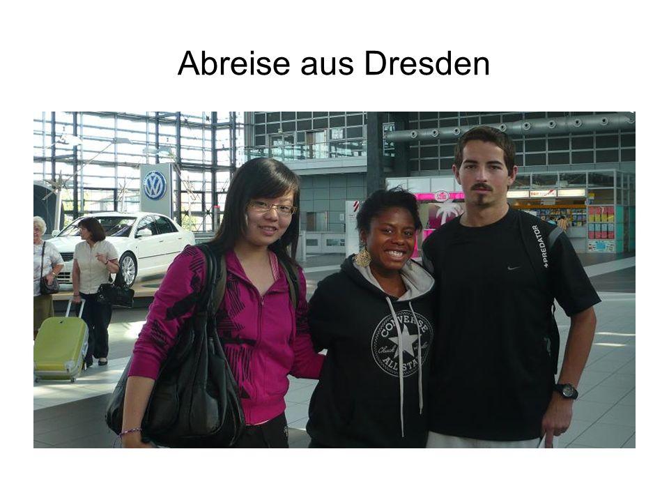 Abreise aus Dresden