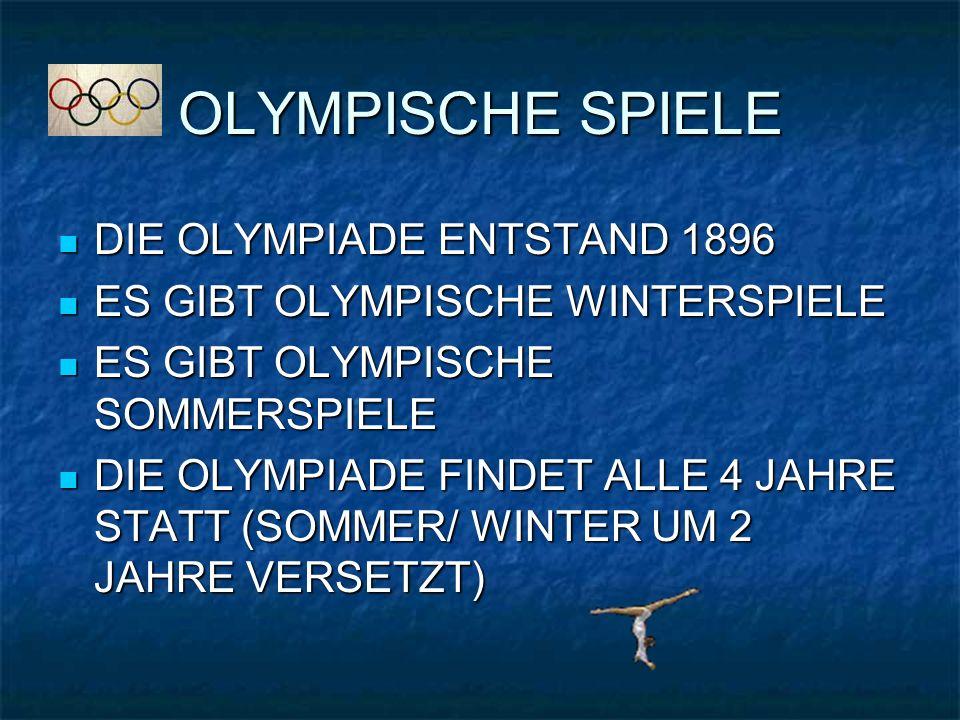 OLYMPISCHE SPIELE DIE OLYMPIADE ENTSTAND 1896