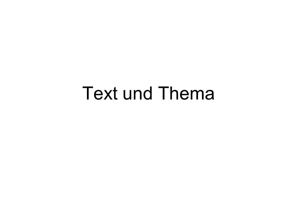Text und Thema
