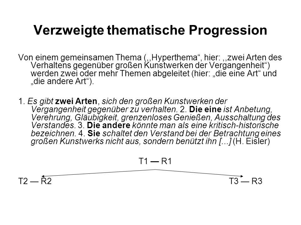 Verzweigte thematische Progression
