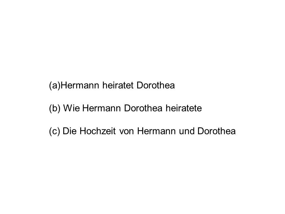 Hermann heiratet Dorothea